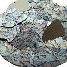 "Fishscale Fin Sequin 1.5"" Brown Stone Rocks Pebbles Gravel Metallic"
