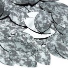 "Navette Leaf Sequin 1.5"" Digi Ice Camo Camouflage Gray Black Metallic"