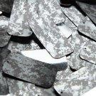 "Rectangle Sequin 1.5"" Digi Ice Camo Camouflage Gray Black Metallic"