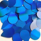 "Blue Laser Sheen Reflective Sequins Teardrop 1.5"" Large Couture Paillettes"