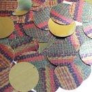 30mm Sequins Ethnic Woven Fabric Weave Multicolor Metallic