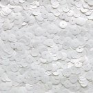 8mm Cup Sequins Facet Paillette ~ Oyster White ~ Made in USA