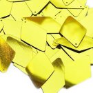 Yellow Metallic Shiny Sequins Long Diamond 1.75 inch Couture Paillettes