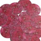 "Round Sequin 1.5"" Ruby Pink Raw Crystal Gem Rocks Opaque"