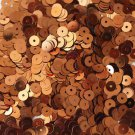 5mm Flat SEQUIN PAILLETTES ~ COPPER Metallic Premium ~ Round Disc ~ Made in USA.