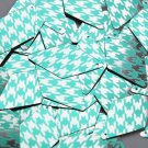 """Long Diamond Sequin 1.75"""" Teal Silver Houndstooth Pattern Metallic"""