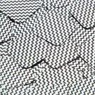 """Square Diamond Sequin 1.5"""" Black Silver Chevron Zig Zag Pattern Metallic"""