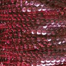 Sequin Trim 5mm Cup Rose Pink Metallic. Made in USA