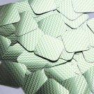 "Square Diamond Sequin 1.5"" Lime Green Silver Chevron Zig Zag Pattern Metallic"