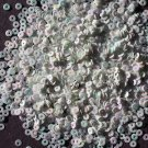 3mm Flat SEQUIN PAILLETTES ~ WHITE AURORA Rainbow Pearl ~ Made in USA.