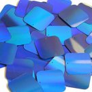 Blue Lazersheen Sequin Reflective Square 30mm ( 1.25 inch ) Couture Paillettes