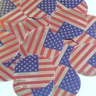 """Round Sequin 1.5"""" USA Flag Stars and Stripes Silver Red Blue Opaque"""