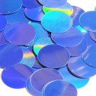 Blue Lazersheen Sequin 30mm Round Reflective Couture Paillettes