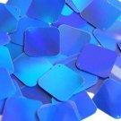 Blue Lazersheen Reflective Sequin Square Diamond 1.5 inch Couture Paillettes