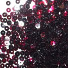 4mm Flat SEQUIN PAILLETTES ~ Transparent Wine Red Se See-Thru Made in USA
