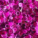 5mm Cup SEQUIN FACET PAILLETTES ~ FUCHSIA PINK Metallic ~ Made in USA