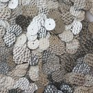 10mm Flat SEQUIN PAILLETTE~ SILVER Lizard Snakeskin Embossed Premium Made in USA