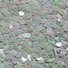 6mm Sequins Antique Light Seafoam Aqua Rainbow Iris Shiny Opaque. Made in USA
