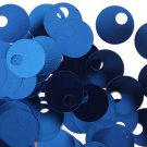 Large Hole SEQUIN PAILLETTE ~ Royal Blue Shiny Metallic~ 20mm round~ Made in USA