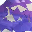 Purple Silver Metallic Sequins Long Diamond 1.75 inch Couture Paillettes