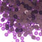 6mm Flat Sequin Paillettes Violet Purple Transparent See-Thru Made in USA
