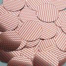 """Round Sequin 1.5"""" Red Silver Chevron Zig Zag Pattern Metallic"""