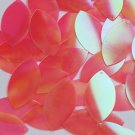 "Navette Leaf Sequin 1.5"" Coral Rose Ultra Crystal Rainbow Iris Iridescent"