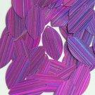 Purple Navette Leaf Sequins 1.5 inch City Lights Reflective Couture Paillettes