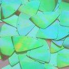 "Fishscale Fin Sequin 1.5"" Lime Green Ultra Crystal Rainbow Iris Iridescent"
