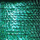 Sequin Trim Green Hologram 8mm Cup Facet strung by the yard. Made in USA.