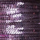 Sequin Stitched Trim 4mm ~ Lilac Lavender Shiny Metallic ~ Made in USA