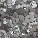 Loose SEQUIN 8mm Flat PAILLETTES ~ Gunmetal Gray Matte Silk FROST ~ Round Disc ~