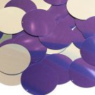 Purple Silver Metallic Sequin Round 40mm Couture Paillettes