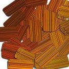 Orange Sequins City Lights Rectangle 1.5 inch Reflective Couture Paillettes
