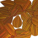 Orange City Lights Sequins Teardrop 1.5 inch Reflective Couture Paillettes