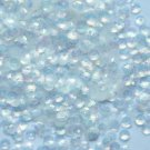 4mm Cup Loose Sequin FACET PAILLETTES ~ Matte Silk Frosted Crystal Rainbow Iris