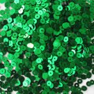 4mm Flat SEQUIN PAILLETTES ~ GREEN  Metallic ~ Made in USA