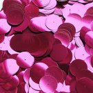 20mm Sequins Center Hole Fuchsia Pink Metallic. Made in USA