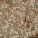 5mm Flat SEQUIN Loose PAILLETTES ~ Cork Wood Grain Effect ~ Made in USA