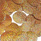 "Peach Round Sequins Glitter Hologram 1.5"" Large Couture Paillettes"