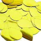 Yellow Metallic Shiny Sequins Teardrop 1.5 inch Large Couture Paillettes