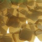 Caramel Gold Transparent Sequin Square Diamond 1.5 inch Couture Paillettes