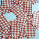 "Rectangle Sequin 1.5"" Red White Gingham Plaid Checker Pattern Opaque"