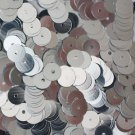 6mm Flat SEQUIN PAILLETTES ~ SILVER Metallic ~ Round Disc ~ Made in USA