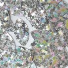"""Silver Star Shiny Navette Leaf 1.5"""" Couture Sequin Paillettes. Made in USA"""