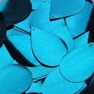 "Deep Turquoise Blue Shiny Metallic Sequin Teardrop 1.5"" Large Couture Paillettes"