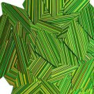 Lime Green Sequin Diamond 1.75 inch City Lights Reflective Couture Lge Paillette