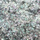 3mm Flat SEQUIN PAILLETTES Loose ~  SILVER PRISM MULTI Reflective METALLIC ~ USA