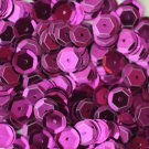 8mm Cup SEQUIN FACET PAILLETTES ~ PURPLE Metallic ~ Made in USA