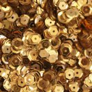 6mm Cup SEQUIN FACET PAILLETTES ~ GOLD  Metallic ~ Made in USA